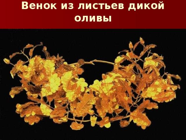 Венок из листьев дикой оливы