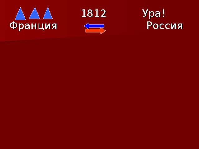 1812  Ура! Франция  Россия