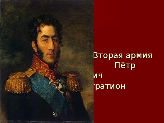 Вторая армия  Пётр Иванович  Багратион