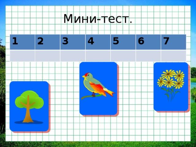 Мини-тест. 1 2 3 4 5 6 7