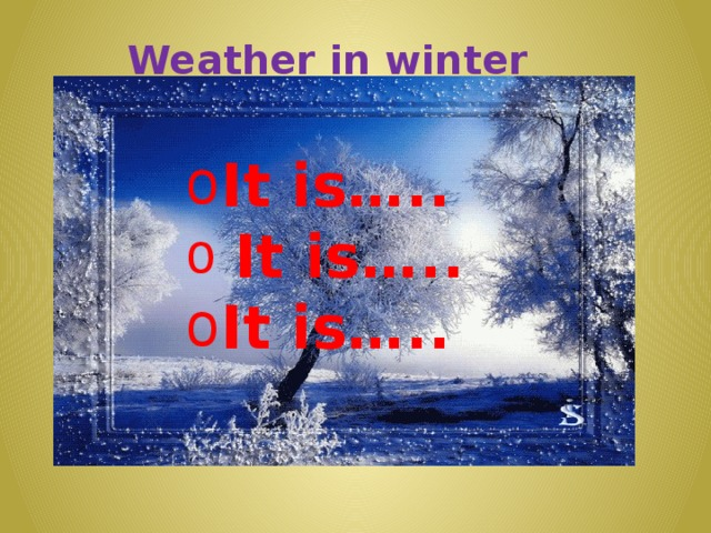 Weather in winter