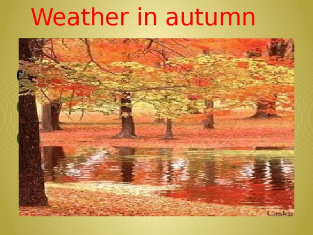 Weather in autumn