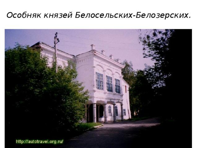 Особняк князей Белосельских-Белозерских.