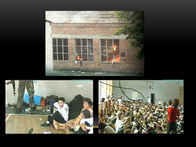 10 лет назад, 1 сентября 2004 года группа вооруженных террористов во время линейки захватила школу № 1 в небольшом городе Беслан в Северной Осетии. В руках боевиков оказалось более 1000 человек, в основном женщины и дети. Всех согнали в спортзал, в котором находились взрывные устройства. 3 дня заложники провели в нечеловеческих условиях, 40 градусную жару без воды и еды. Там же на глазах у детей расстреливали родителей.