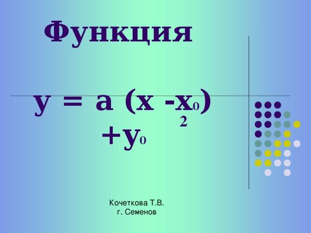 № 1 Найдите пары: «Квадратичная функция – график этой функции» и отметьте знаком «+» № 2 Даны пары: «Квадратичная функция – координаты вершины параболы» Укажите верные и неверные соответствия № Квадратичная функция 1 Координаты вершины параболы 2 у = (х+4) 2 -5 3 (-4;-5) у = (х+12) 2 -4 4 (12;-4) у = - (х-5) 2 +3 (-5;-3) у = - (х+8) 2 -9 6 (-8;-9) у = (х+12) 2 +20 (-12;20)