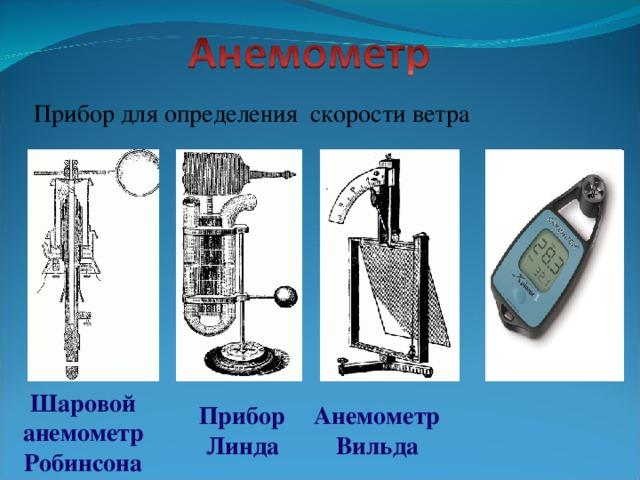 Прибор для определения скорости ветра Шаровой анемометр Робинсона Анемометр  Вильда Прибор  Линда