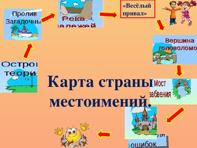 «Весёлый привал» Карта страны  местоимений.