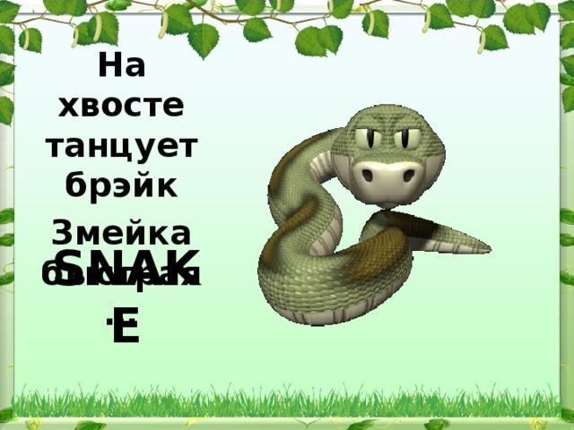На хвосте танцует брэйк Змейка быстрая …  SNAKE