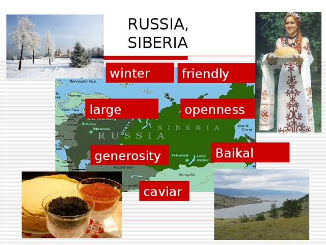 RUSSIA, SIBERIA winter friendly openness large Baikal generosity caviar