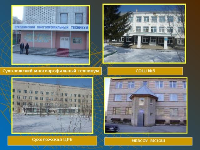Сухоложский многопрофильный техникум СОШ №5 Сухоложская ЦРБ МБВСОУ В(С)ОШ