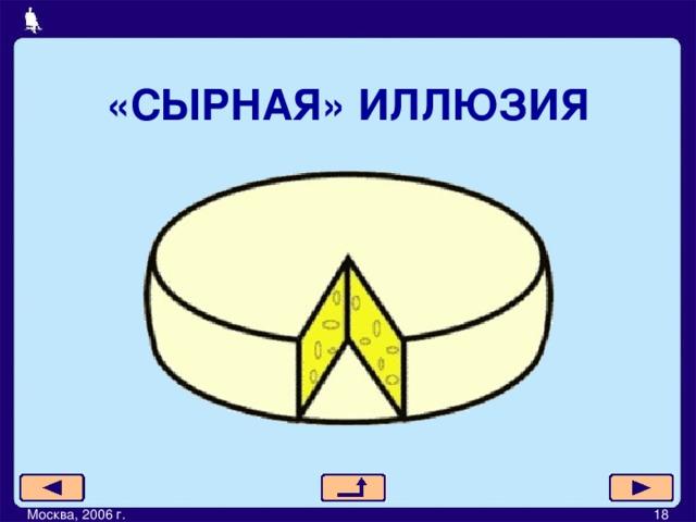 «СЫРНАЯ» ИЛЛЮЗИЯ Москва, 2006 г.         18