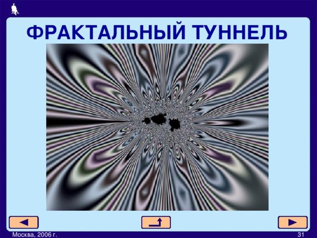 ФРАКТАЛЬНЫЙ ТУННЕЛЬ Москва, 2006 г.         31