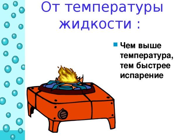 От температуры жидкости :