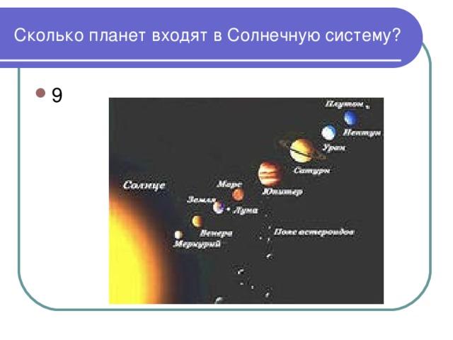 Сколько планет входят в Солнечную систему?