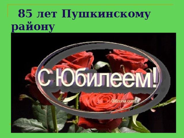 85 лет Пушкинскому району