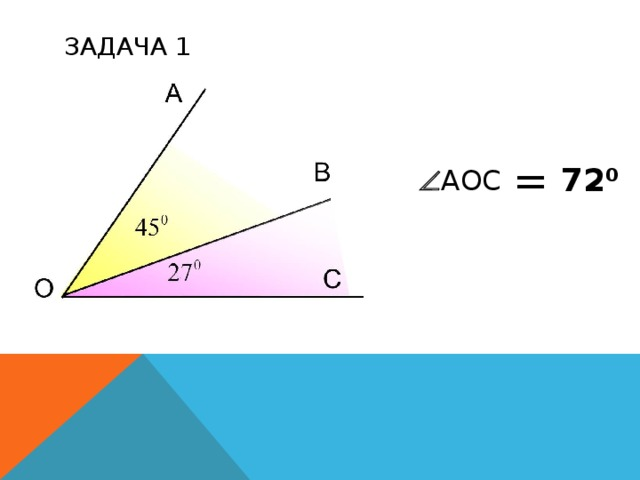 ЗАДАЧА 1 = 72 0