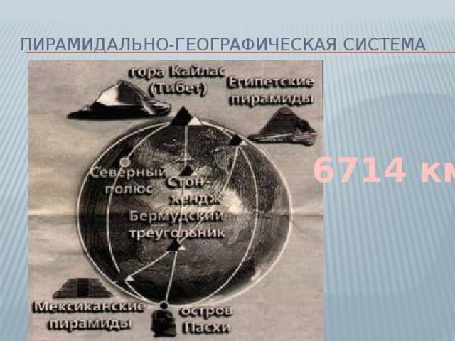 Пирамидально-географическая система 6714 км