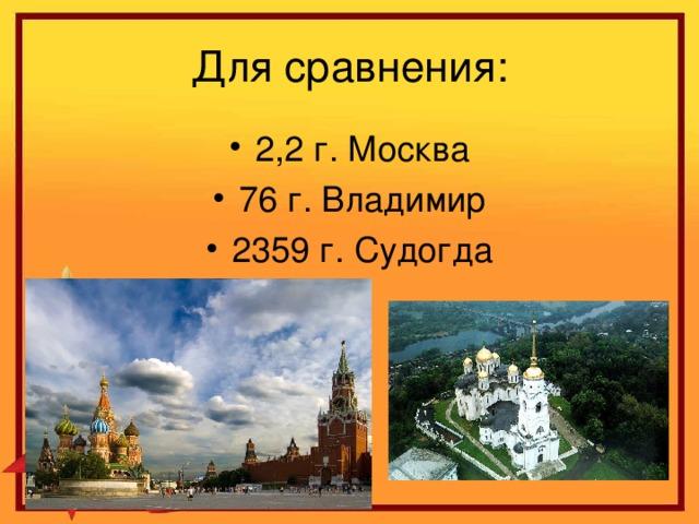 2,2 г. Москва 76 г. Владимир 2359 г. Судогда