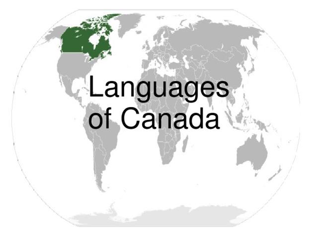 Languages of Canada