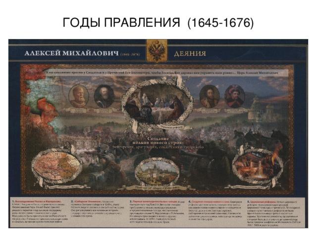 ГОДЫ ПРАВЛЕНИЯ (1645-1676)