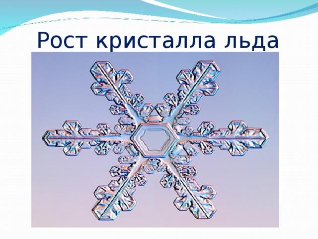Рост кристалла льда
