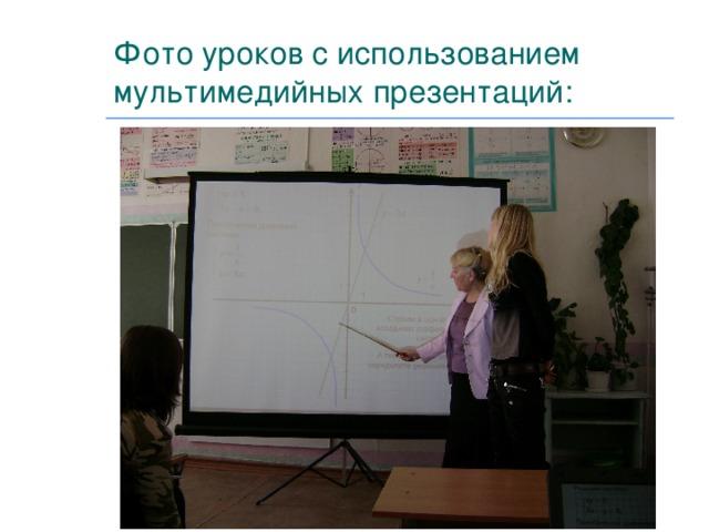 Фото уроков с использованием мультимедийных презентаций: