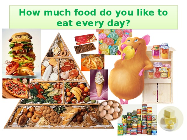 How much food do you like to eat every day?