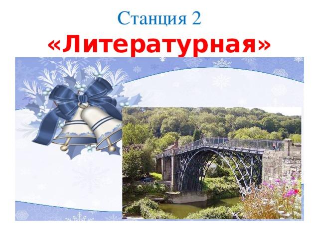 Станция 2  «Литературная»