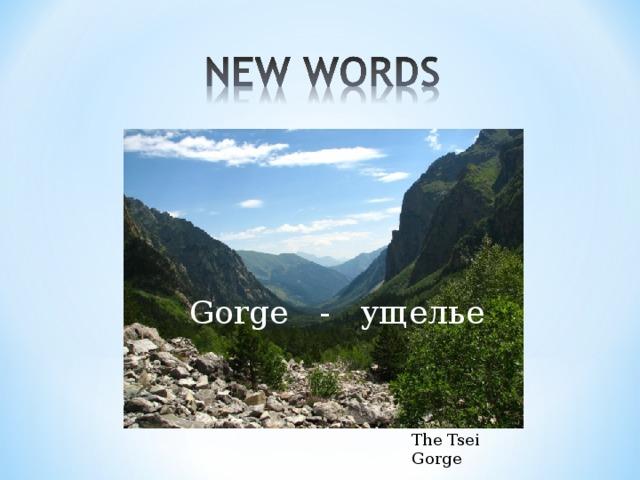 Gorge - ущелье The Tsei Gorge