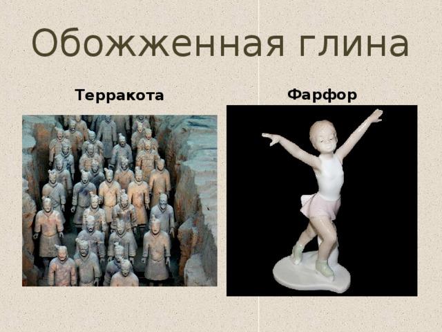 Обожженная глина Терракота Фарфор