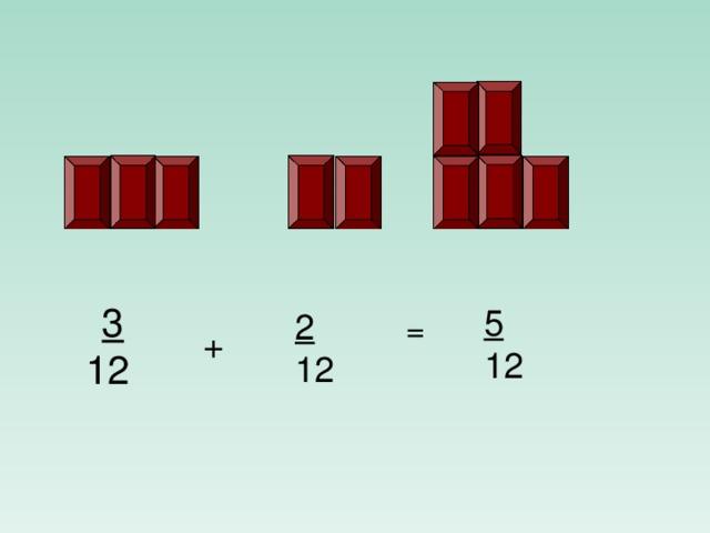 3  12 5 12 2 12 = +