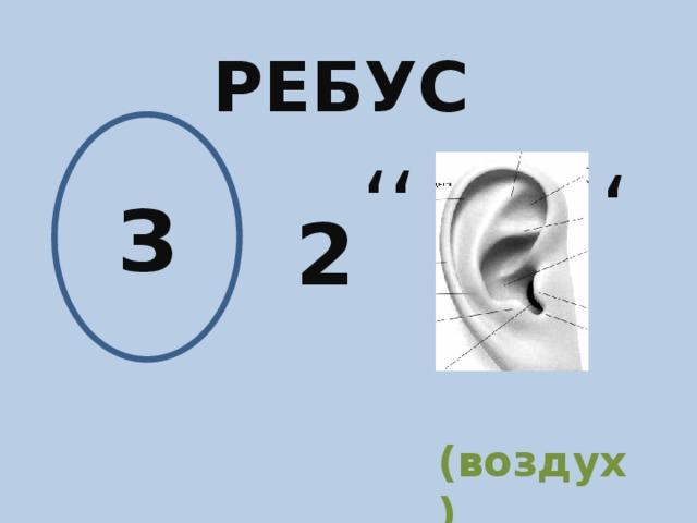 РЕБУС З ' ' ' 2 (воздух)
