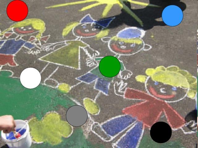 Я рисую твой портрет  Ротик будет красный – Red  Глазки голубые – Blue  Эту краску я люблю.  Нет, давай-ка мы один  Сделаем зелёный – Green  Бровки нарисуй скорей  Карандашик серый – Grey  А оденемся давай  В брючки беленькие – White  Чубчик будет чёрный – Black  Симпатичный человек!