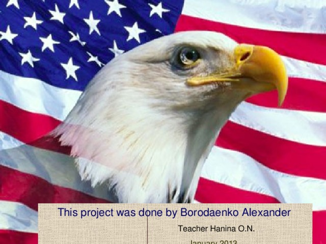 This project was done by Borodaenko Alexander   Teacher Hanina O.N.  January 2013