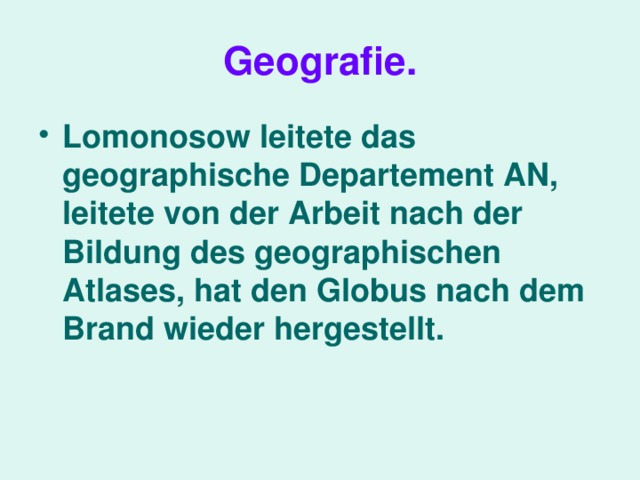 Geografie .
