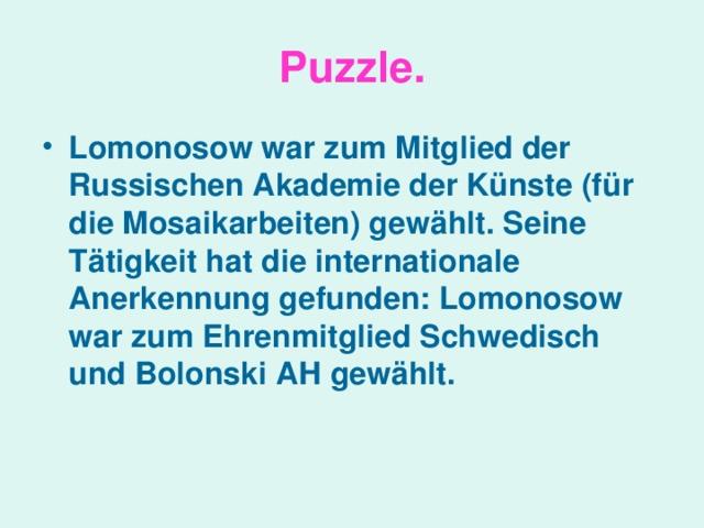 Puzzle .