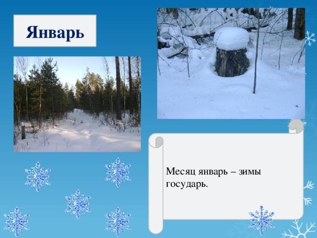 Январь Месяц январь – зимы государь.