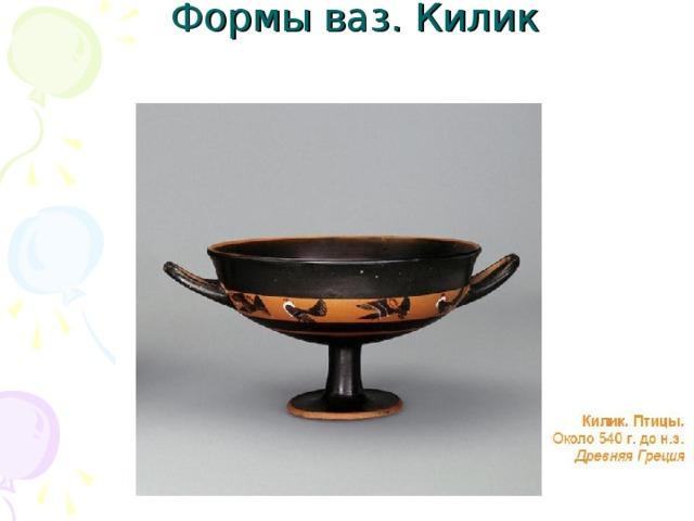 Формы ваз. Килик