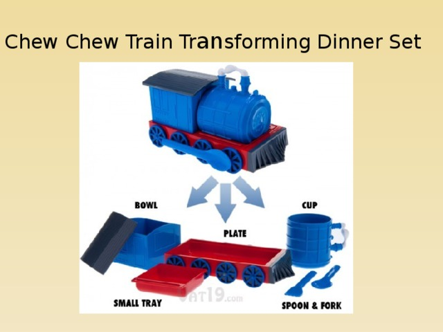 Chew Chew Train Tr an sforming Dinner Set