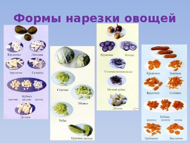 основные формы нарезки овощей с фото крепкая толстая