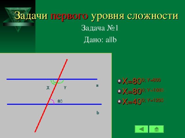 Задачи первого уровня сложности Задача №1 Дано: а ||b