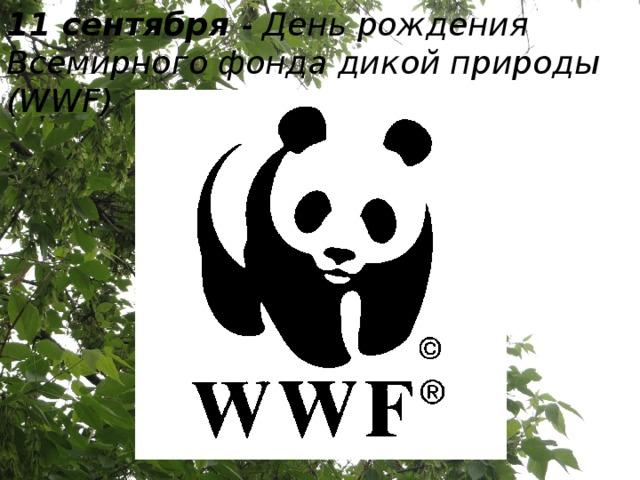 11 сентября - День рождения Всемирного фонда дикой природы (WWF)