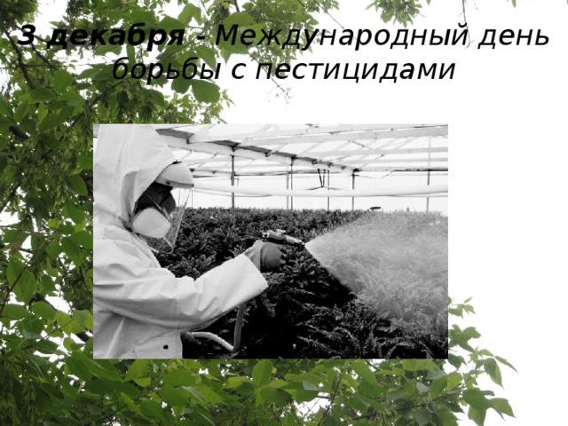 3 декабря - Международный день борьбы с пестицидами