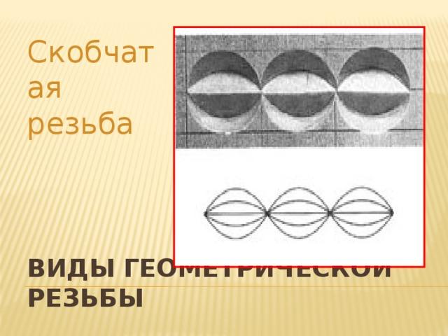 Скобчатая резьба Виды геометрической резьбы