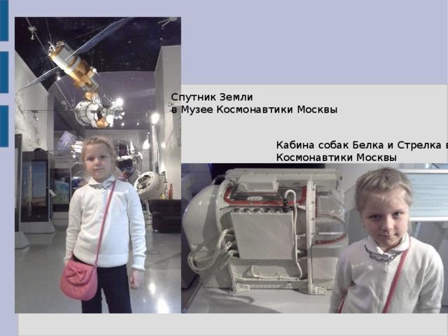 Спутник Земли в Музее Космонавтики Москвы Кабина собак Белка и Стрелка в Музее Космонавтики Москвы