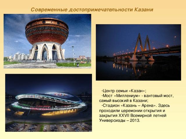 Современные достопримечательности Казани