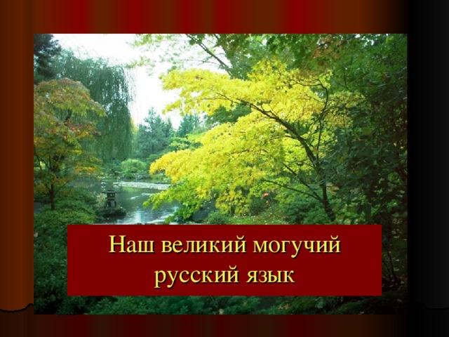 Наш великий могучий русский язык Наш великий могучий русский язык