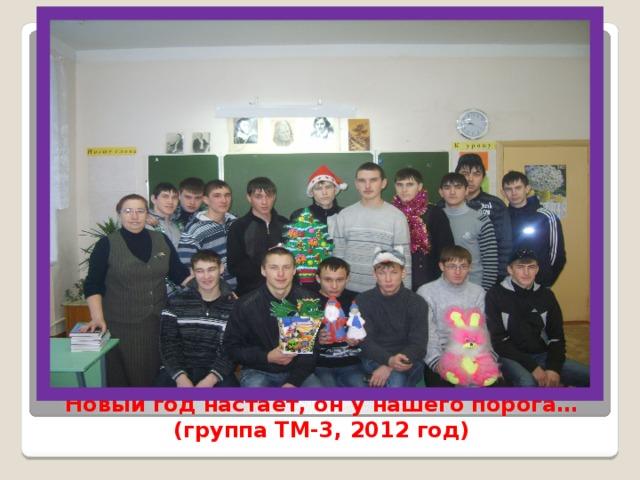 Новый год настаёт, он у нашего порога…  (группа ТМ-3, 2012 год)
