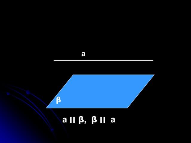 а β  а ׀׀  β , β  ׀׀   а