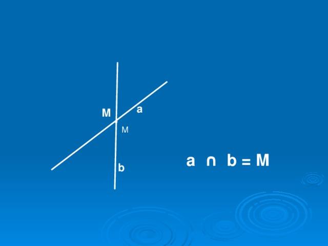а М М а ∩ b = М b
